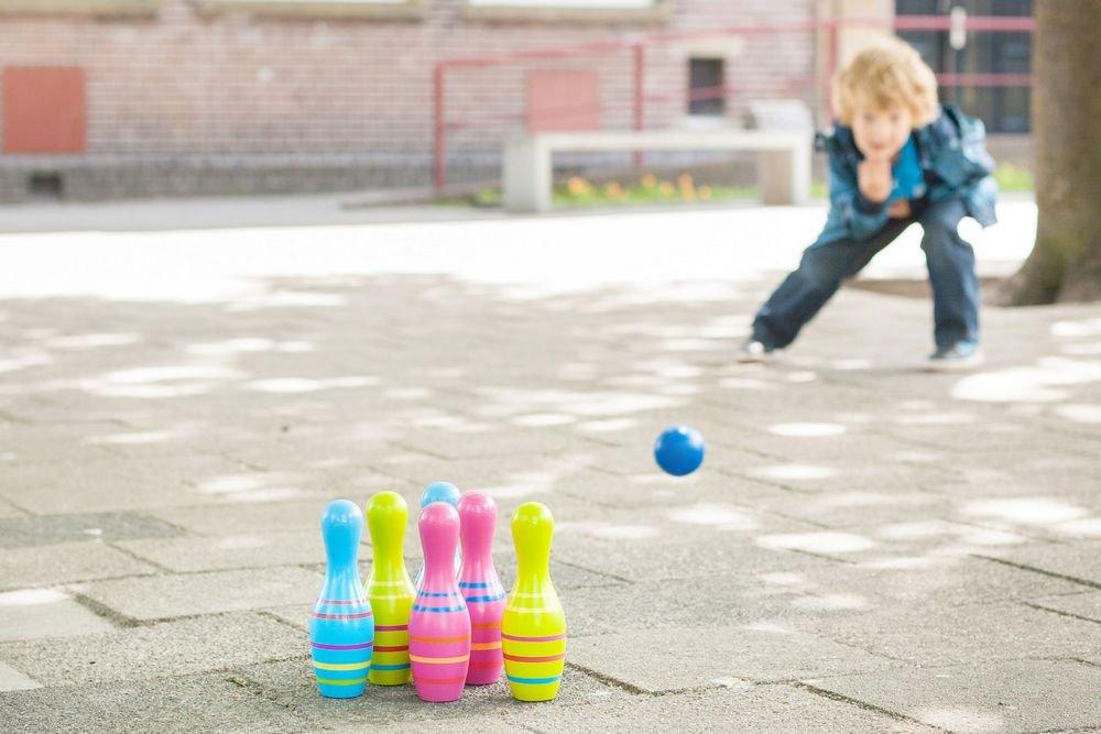 Ξύλινο bowling για παιδιά