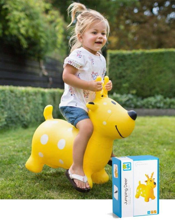 BS Toys - Χοπ Χοπ Τάρανδος Κίτρινος