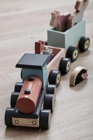KIDS CONCEPT. Ξύλινο συρόμενο τρενάκι Edvin (πολύχρωμο)