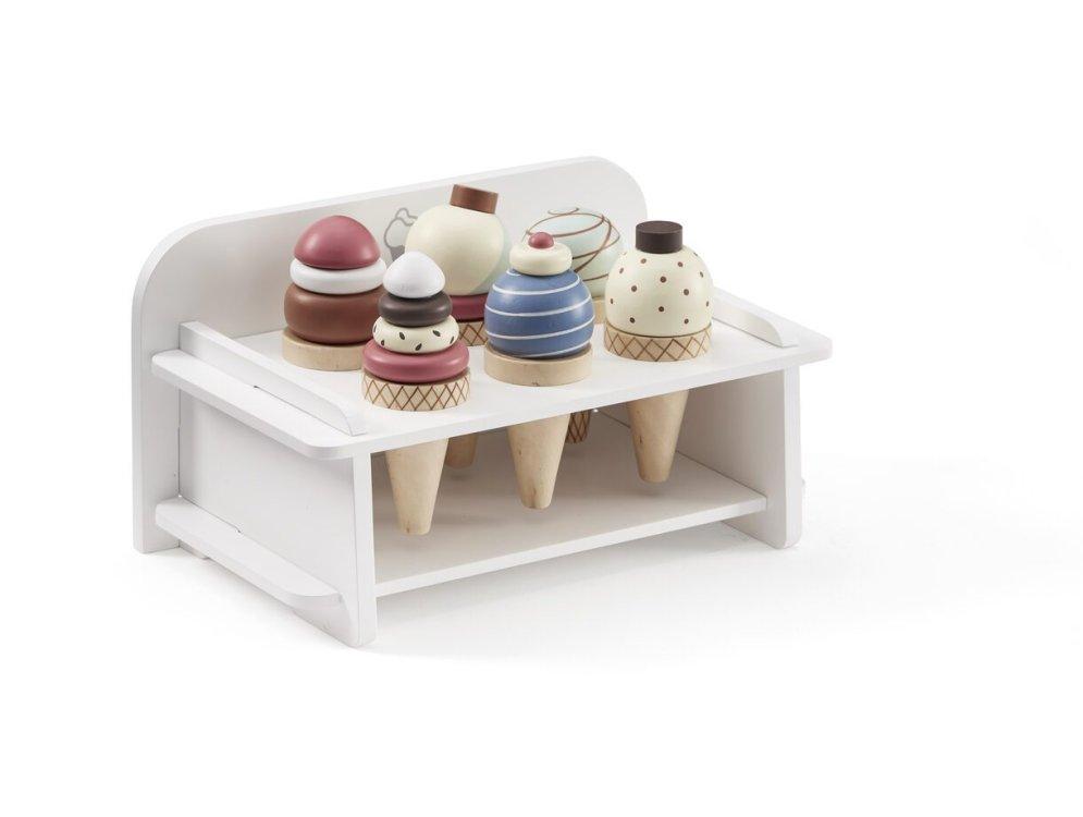 KIDS CONCEPT. Ξύλινο σταντ παγωτών (λευκό-πολύχρωμο)
