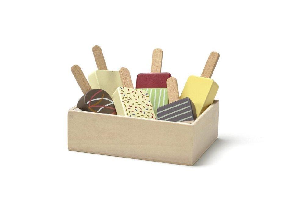 KIDS CONCEPT. Σετ ξύλινα ξυλάκια παγωτού