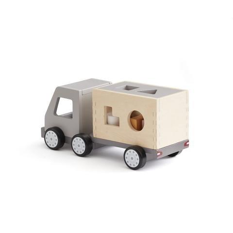 KIDS CONCEPT. Ξύλινο φορτηγό με σχήματα αντιστοίχισης