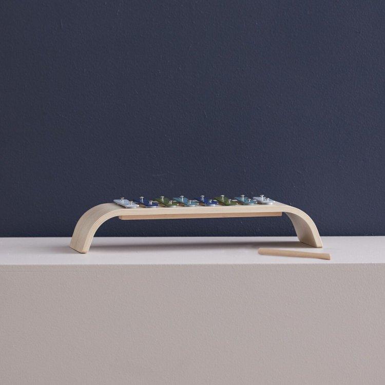 KIDS CONCEPT. Ξυλόφωνο-τόξο από κόντρα πλακέ (πολύχρωμο-μπλε)