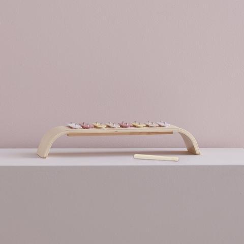 KIDS CONCEPT. Ξυλόφωνο-τόξο από κόντρα πλακέ (πολύχρωμο-ροζ)