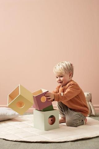 KIDS CONCEPT. Ξύλινo σετ παιχνιδιού με κύβους Edvin