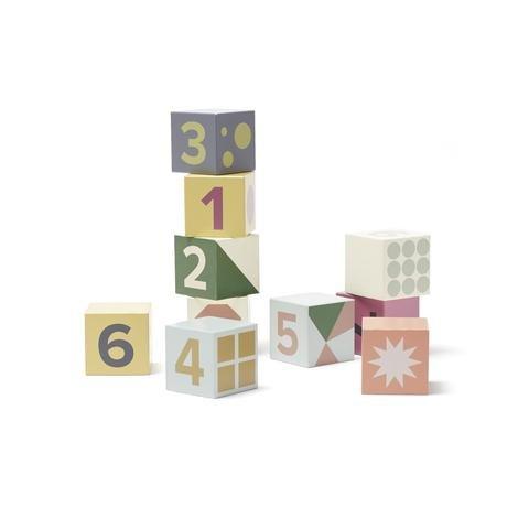 KIDS CONCEPT. Σετ 10 ξύλινων κύβων σύνθεσης Edvin