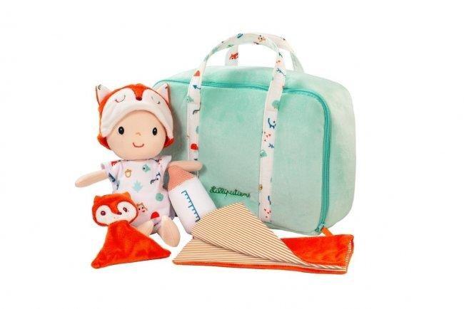 LILLIPUTIENS- Υφασμάτινο μωράκι Άλεξ με τσάντα μεταφοράς & αξεσουάρ