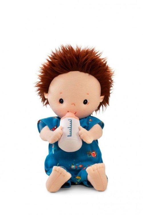 LILLIPUTIENS- Υφασμάτινος κούκλος με μπιμπερό Νόα