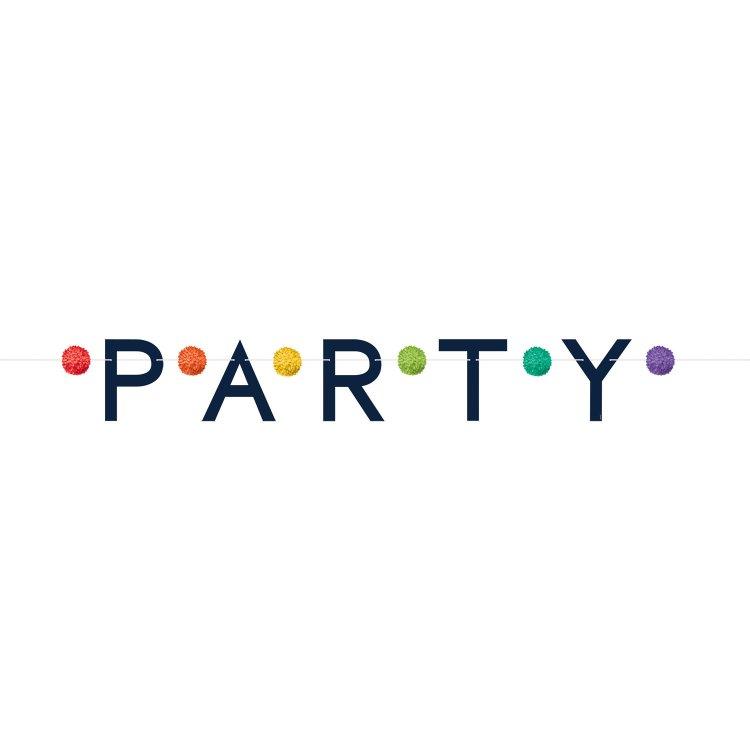 Γιρλάντα Γράμματα Party Pom Poms 190Εκ