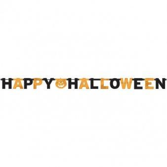 (Γιρλάντα Γράμματα Happy Halloween