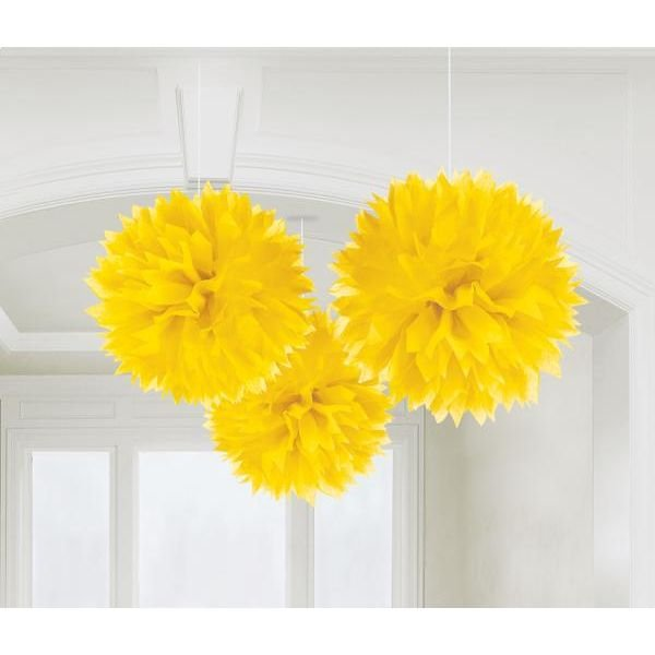 Fluffy Deco Yellow 3 τεμ.
