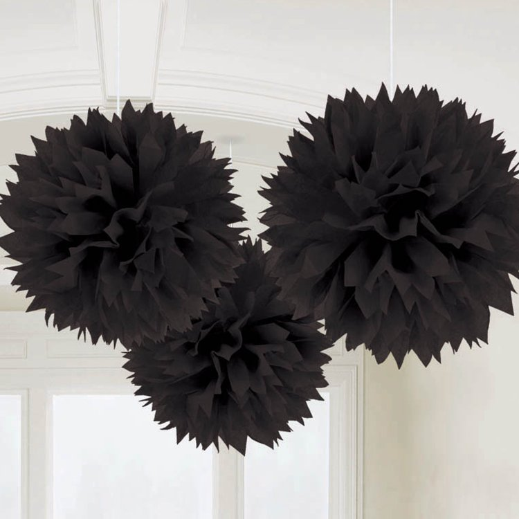 Fluffy Deco Μαύρο 3 τεμ.