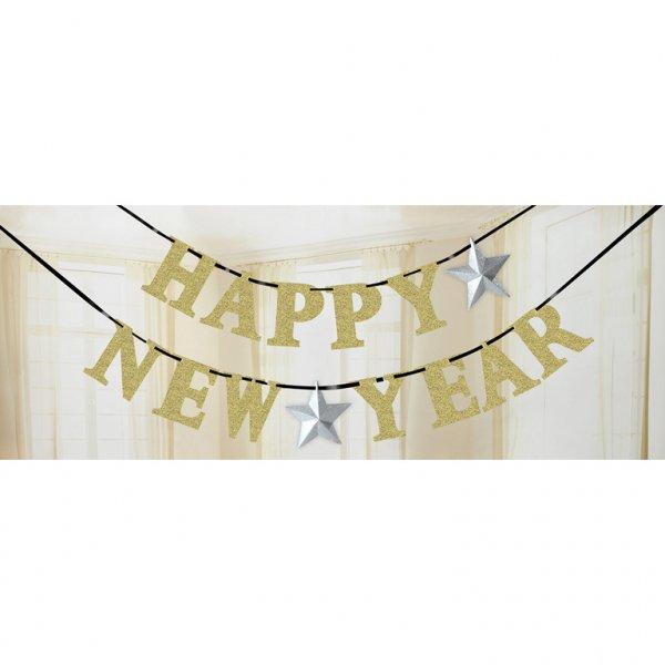 Γιρλάντα γράμματα Happy New Year 3,6Μ