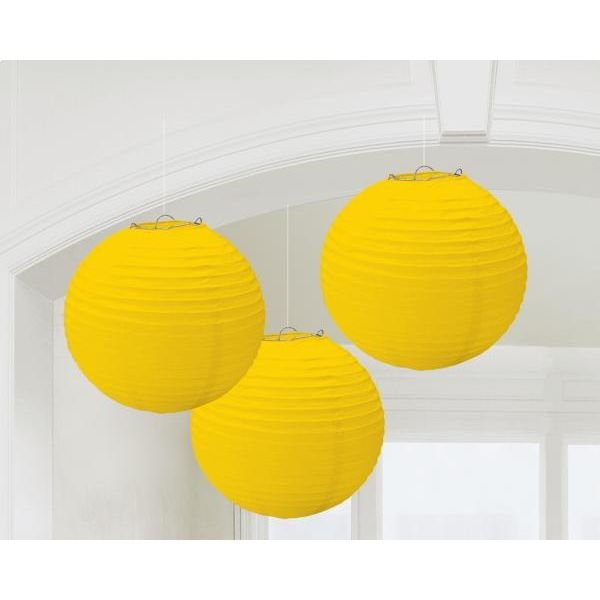 Χάρτινη Διακοσμητική Μπάλα Κιτρινη /3 τεμ.
