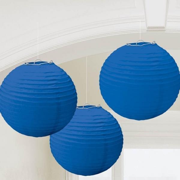 Χάρτινη Διακοσμητική Μπάλα Μπλε Ρουα 3 τεμ.