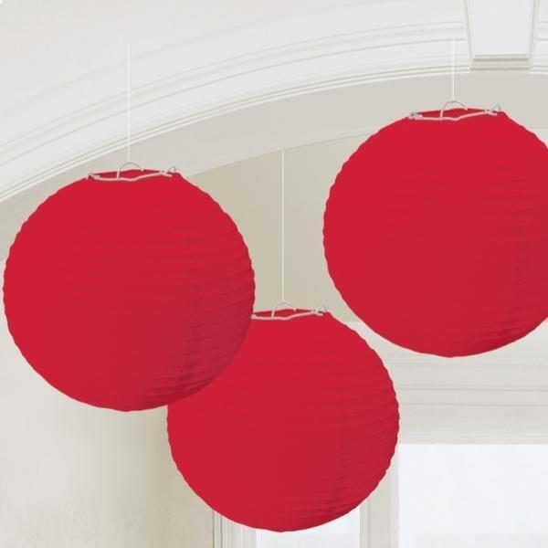 Χάρτινη Διακοσμητική Μπάλα Κόκκινη / 3 τεμ.