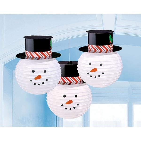 Χάρτινες Διακοσμητικές Μπάλες Χιονανθp. Christmas 3τεμ.