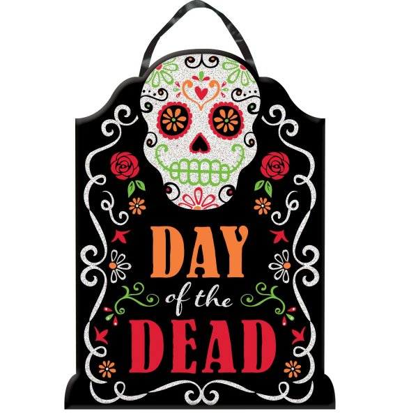 Πινακίδα Day Of The Dead με Glitter