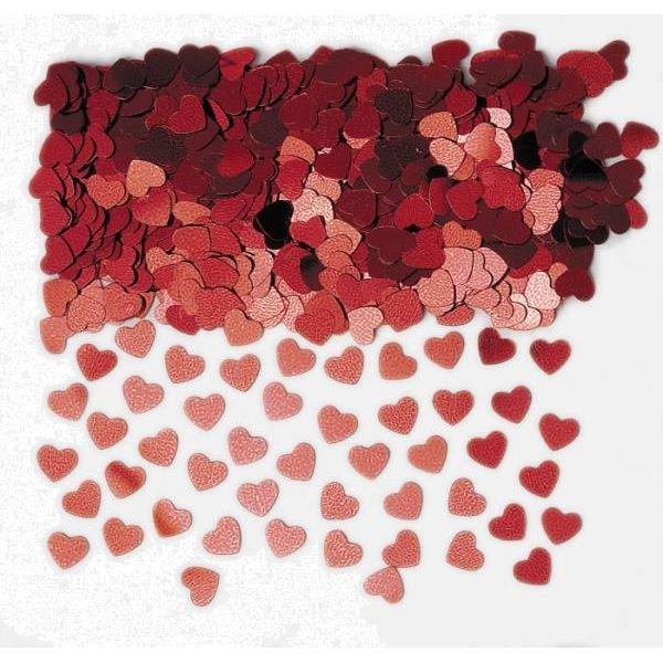 Κομφετί Red Sparkle Hearts