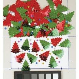 Κομφετί Christmas Trees Red Green