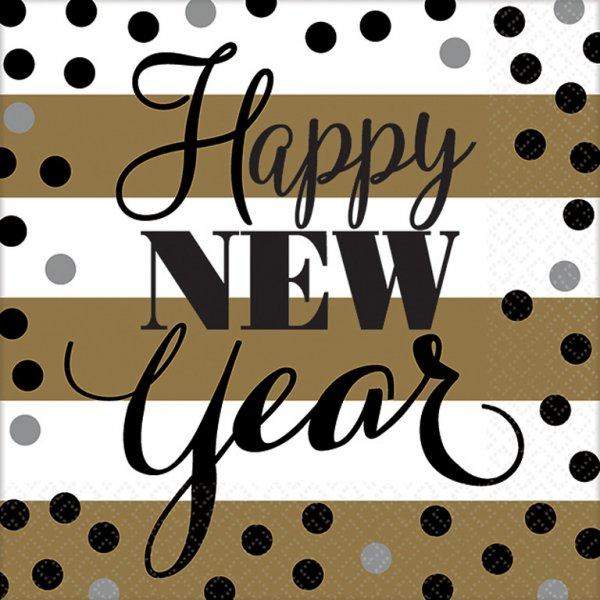 Χαρτοπετσέτες Γλυκού  Golden New Year 8τεμ.