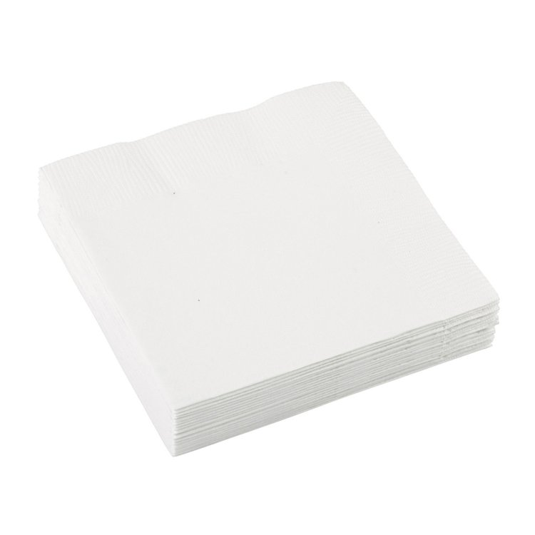 Χαρτοπετσέτες Γλυκού 2φυλλη Λευκό 20τεμ.