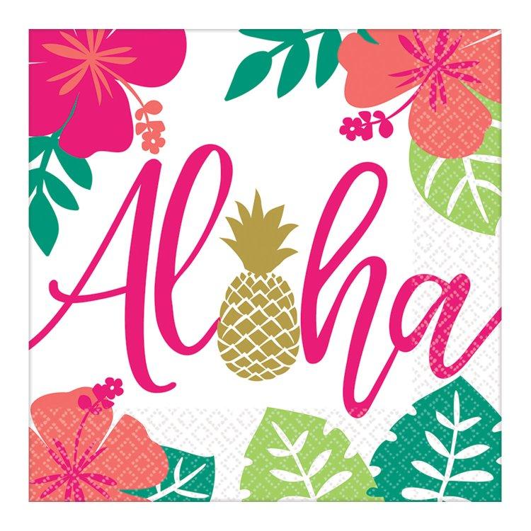 Χαρτοπετσέτες Φαγητού  Aloha 16τεμ.