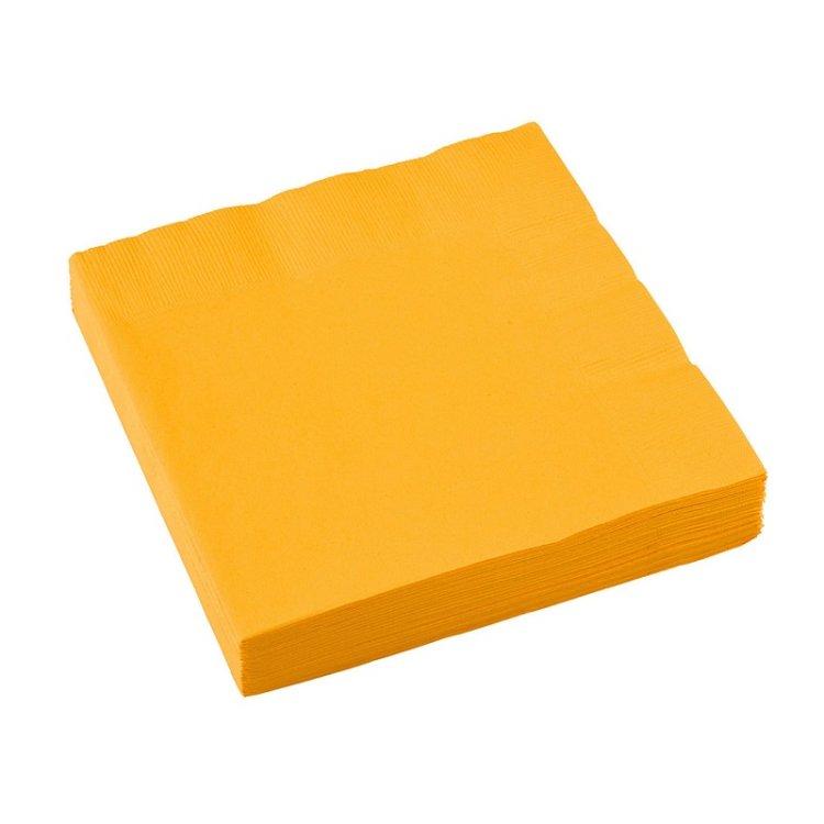 Χαρτοπετσέτες Φαγητού 2φυλλη Κιτρινο 20τεμ.