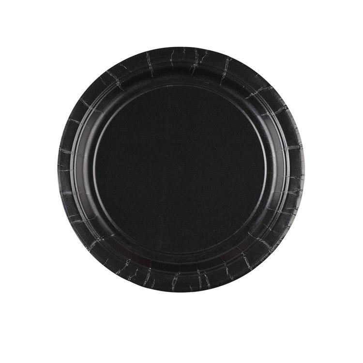 Πιάτα 17.7Cm Μαύρο 8 τεμ.