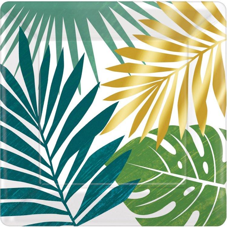 Πιάτα χαρτ. γλυκού 18εκ Key West /8 τεμ