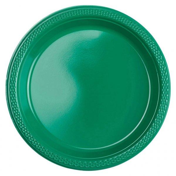 Πιάτα 17,7εκ πλαστικά Πράσινα /10 τεμ