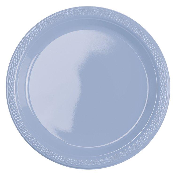 Πιάτα 17.7εκ.Πλαστικό Pastel Blue 10τεμ.