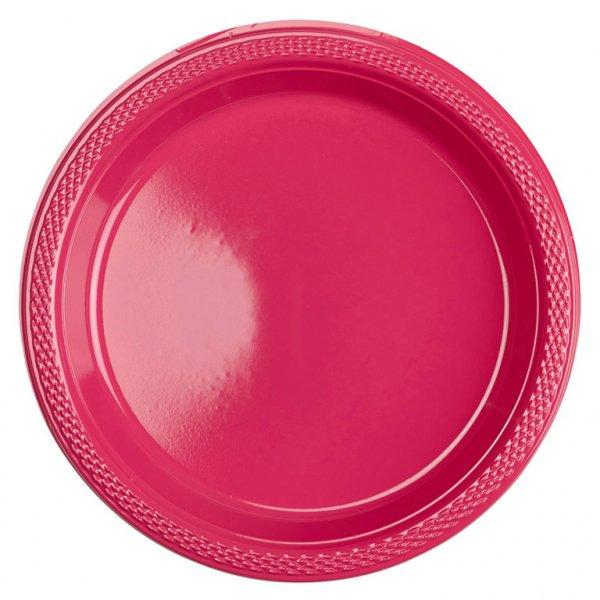 Πιάτα 17,7εκ πλαστικά Φούξια /10 τεμ