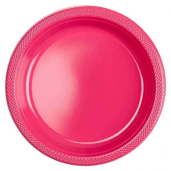 Πιάτα 22,8εκ πλαστικά Φούξια /10 τεμ