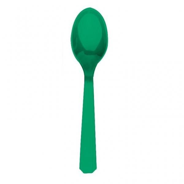 Κουτάλια πλαστικά Πράσινα /10 τεμ