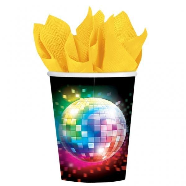 Ποτήρια χάρτινα 266ml Disco Fever /8 τεμ