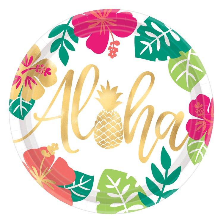 Πιάτα Χάρτινα 26.7 εκ. Aloha-Pineapple-Flamingo / 8τεμ.