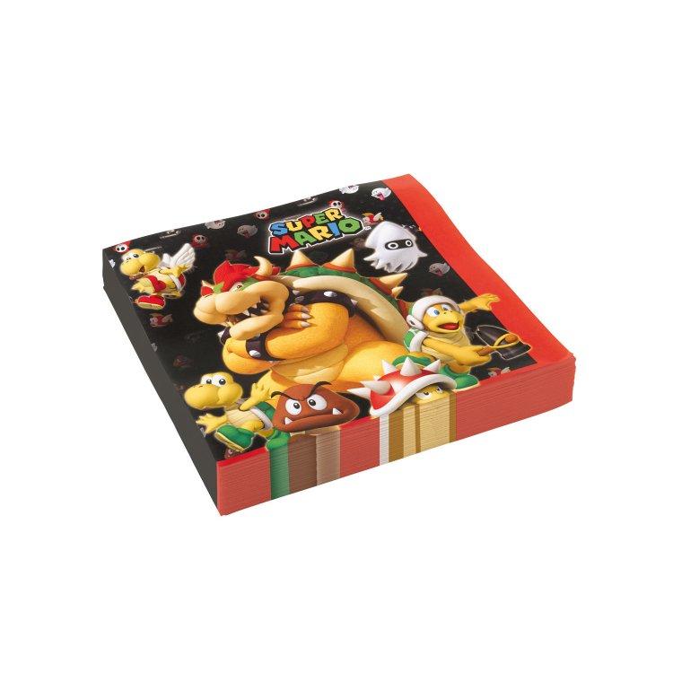 Χαρτοπετσέτες φαγητού 33 εκ Super Mario /20 τεμ