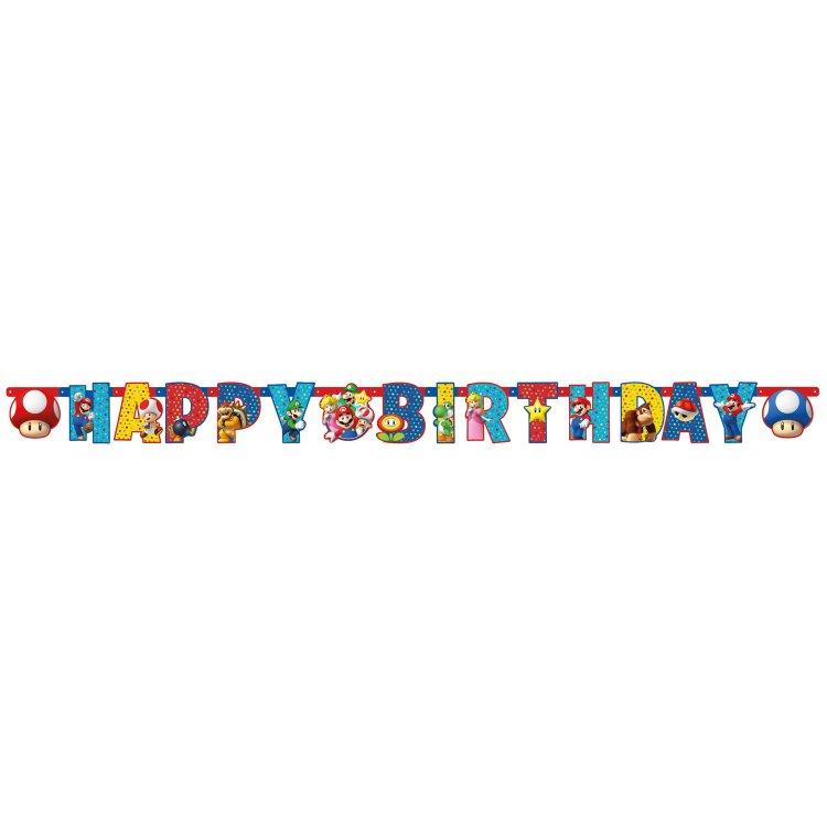 Γιρλάντα γράμματα Happy Birthday Super Mario