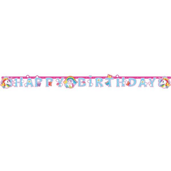 Γιρλάντα γράμματα Happy Birthday Μονόκερος