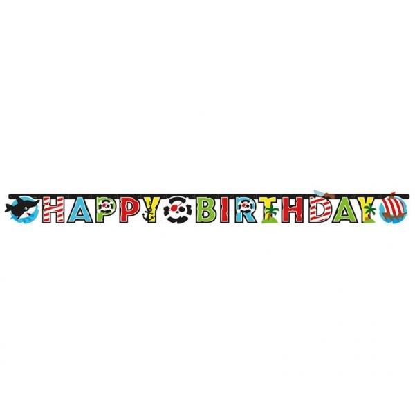 Γιρλάντα χάρτινη Happy Birthday Pirate