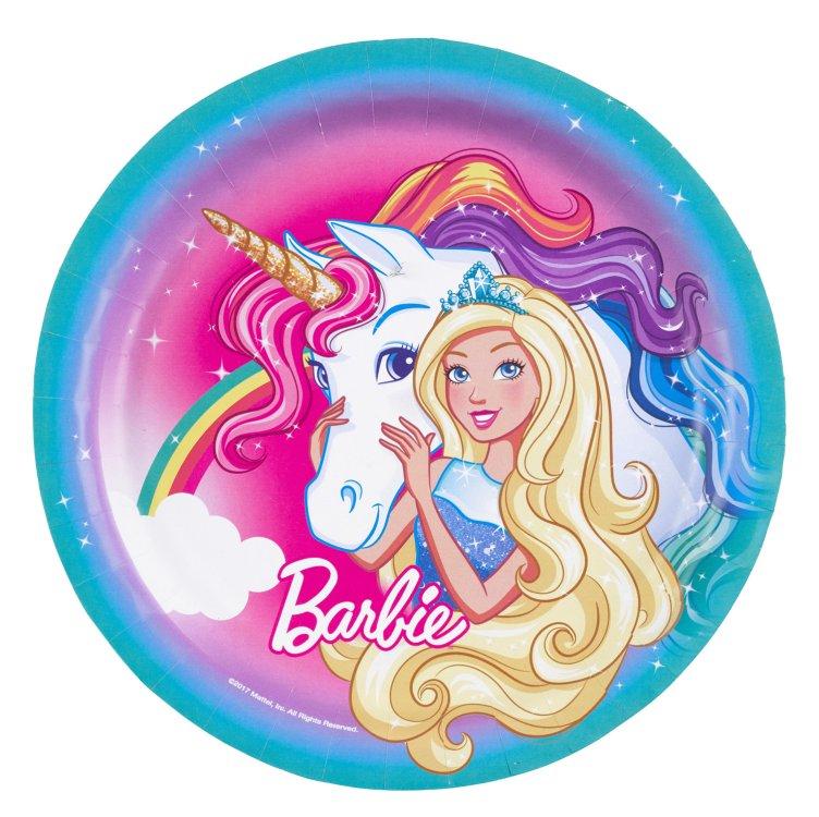 Πιάτα 23εκ.Barbie Dreamtopia 8τεμ.