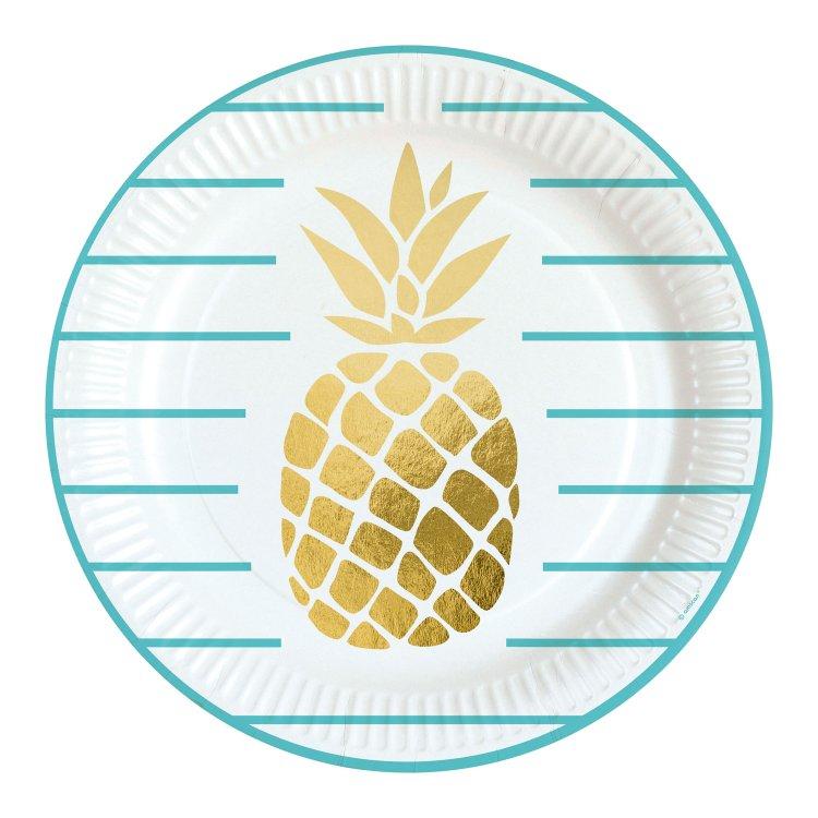 Πιάτα 23εκ. Pineapple 8τεμ.