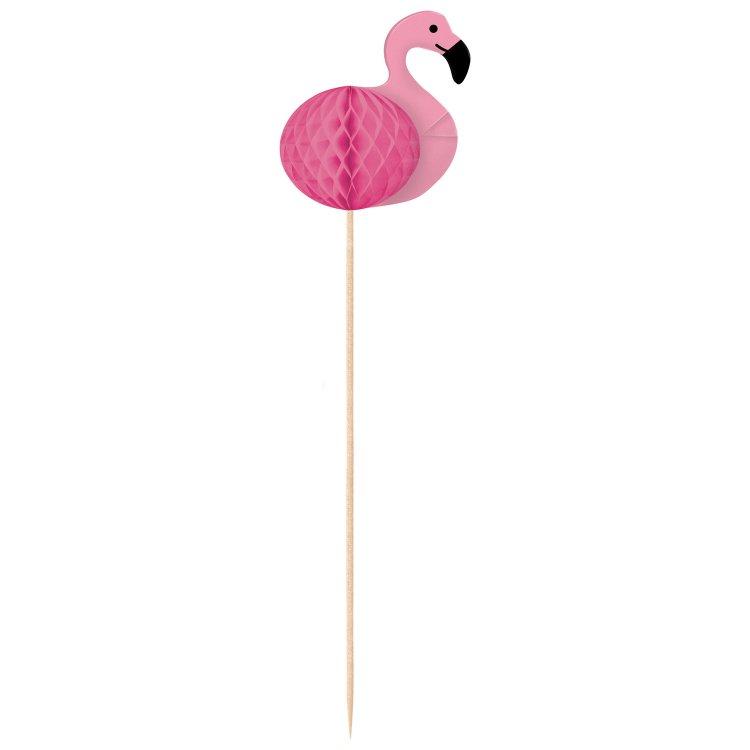 Διακοσμητικές οδοντογλυφίδες Flamingo Paradise  / 10 τεμ.