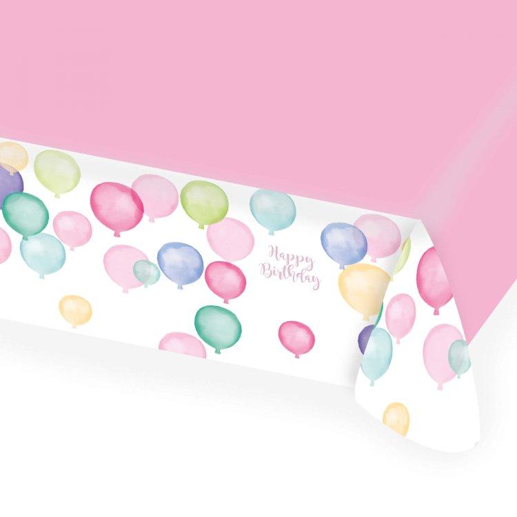 Τραπεζομάντηλο χάρτινο Happy Birthday Pastel