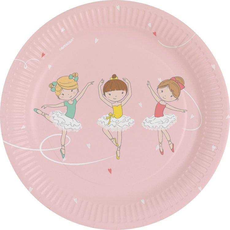 Πιάτα χάρτινα γλυκού 18εκ Little Dancer /8 τεμ