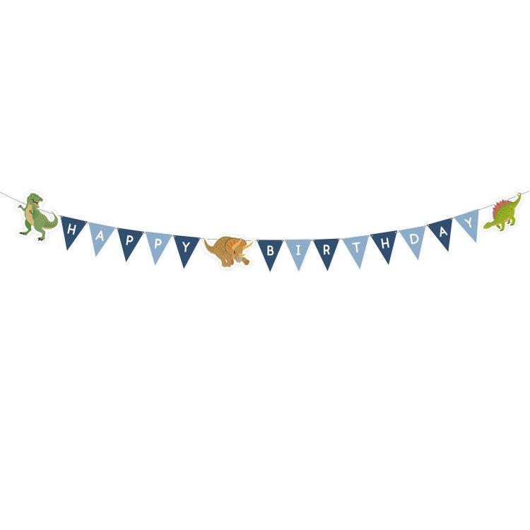 Γιρλάντα Γράμματα Happy Birthday Happy Dinosaur
