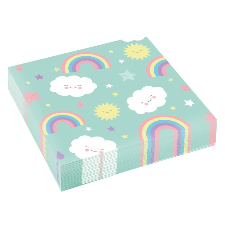 Χαρτοπετσέτες Φαγητού 33 εκ Rainbow & Cloud 20τεμ.