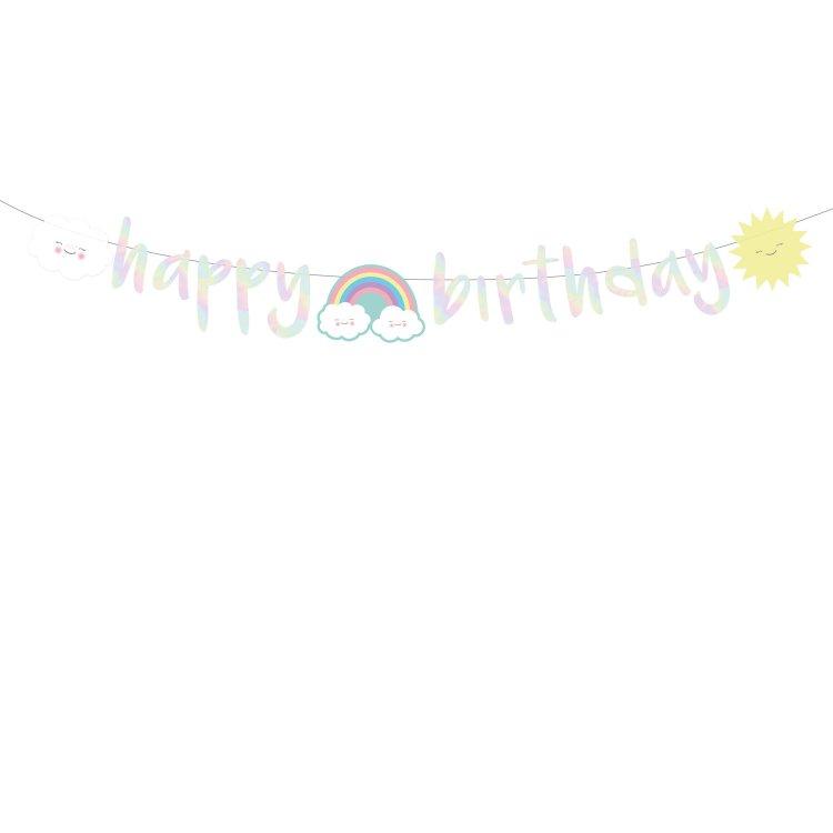 Γιρλάντα Γράμματα Happy Birthday Rainbow & Cloud