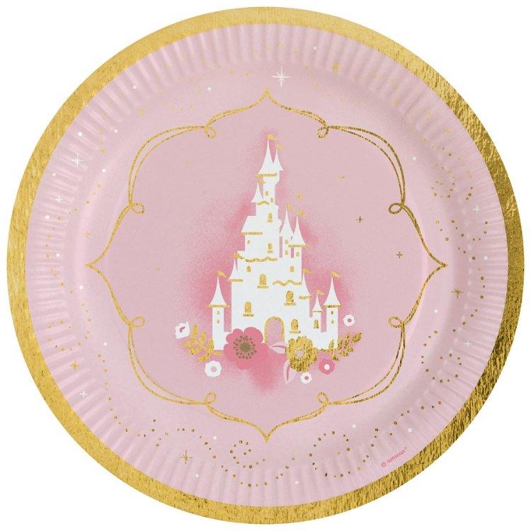 Πιάτα χάρτινα φαγητού 23εκ Princess for a Day /8 τεμ